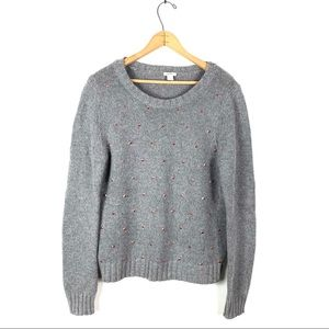 Fossil | Gray Sweater With Rose Gold Studs